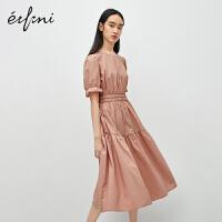 伊芙丽连衣裙女2020年新款夏季灯笼袖法式长裙闺蜜装气质仙女裙子