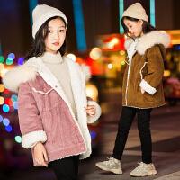 儿童羊羔毛外套2018新款秋冬季韩版加绒外衣女宝宝保暖上衣