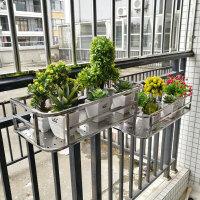 简约现代阳台花架不锈钢花架挂式绿萝花架客厅悬挂吊兰花架子壁挂栏杆花架收纳架盆栽架置物架