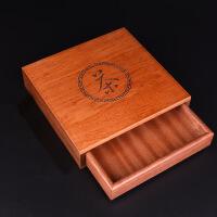 红木茶盒实木分茶盘茶饼盒单层多层普洱饼盒收纳柜茶具配件