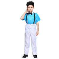 六一儿童演出服装女童公主蓬蓬纱裙小学生背带裤合唱团舞蹈表演服