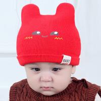 婴儿帽子秋冬季儿童保暖毛线帽2018新款