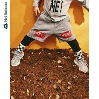 【限时2件3折价:60】迷你巴拉巴拉儿童长裤2019秋装新品男童跑男裤宽松假两件运动裤子