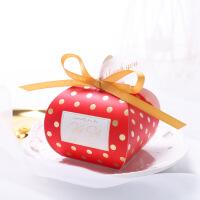 创意结婚礼欧式喜糖盒新款网红款装喜空盒子包装盒粉红色