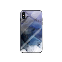 冷淡风iphone6s手机壳油画玻璃6保护套7苹果8plus男女款x全包防摔
