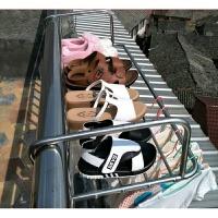 窗外晾衣架多功能 不锈钢窗外阳台晒架晾晒架栏杆小型多功能晾凉衣毛巾晾晒架
