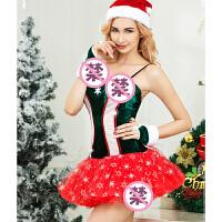 抹胸式紧身连衣裙蓬蓬裙短裙性感露背情趣内衣角色扮演圣诞套装欧美风制服诱惑 均码