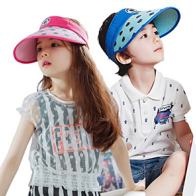 kocotree韩国儿童帽子夏男童女童空顶帽2-4-8岁防晒遮阳帽小孩太阳帽透气吸汗 防晒遮阳