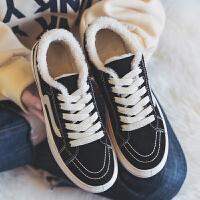 秋冬季新款百搭韩版毛毛鞋加绒豆豆棉鞋女鞋冬天二棉鞋小黑鞋