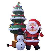 圣诞充气气模 充气圣诞老人气模商场圣诞节雪人装饰带灯圣爬墙卡通气模 BX 2米雪人3米老人5米圣诞树