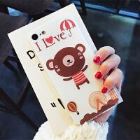 达菲熊手机壳苹果6女款卡通iphone8plus/7/6s/x保护套硅胶软全包