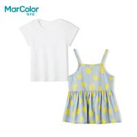 【119元4件】巴拉巴拉旗下MarColor马卡乐夏新品女童卡通假两件短袖T恤