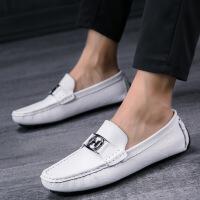 豆豆鞋男鞋韩版百搭个性潮流懒人鞋真皮鞋夏季透气休闲潮鞋时尚