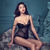 情趣内衣女套装诱惑 性感薄纱女士吊带蕾丝裙 镂空透明睡衣情趣性用品