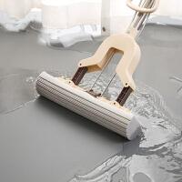 吸水海绵拖把地拖布家用懒人干湿两用对折式挤水胶棉拖把头