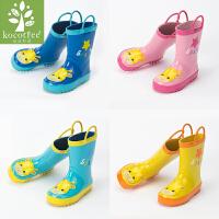 kocotree2017儿童雨鞋男童女童雨鞋橡胶卡通防滑小孩雨靴中筒宝宝水鞋