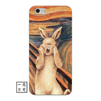 复古个性油画兔子iphone8手机壳苹果6splus创意x保护套7p硅胶软壳