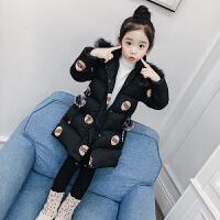 儿童棉衣冬季2018新款韩版中大童棉袄女孩中长款加厚棉服