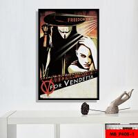 电影海报装饰画现代客厅酒吧咖啡厅壁画欧美经典爱情电影有框挂画 80*120(CM单幅尺寸) 黑色实木边框 单幅或