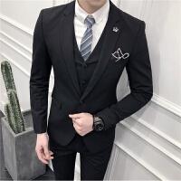夏季休闲西服男青年修身韩版薄款小西装男套装英伦风新郎结婚礼服