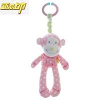 【六一儿童节特惠】 婴儿玩具0-1岁宝宝安抚摇铃内置BB器毛绒布艺