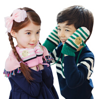 韩国KK树儿童手套保暖五指加厚男童女童滑雪手套冬季小孩宝宝冬天