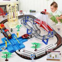 6岁男孩高铁火车玩具轨道车电动汽车小火车轨道小火车套装