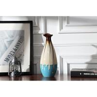 景德镇手工陶瓷花瓶复古粗陶客厅桌面中式摆件干花花瓶工艺品