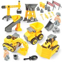 工程车套装儿童玩具男孩搅拌车吊车挖掘机挖土机铲车玩具车