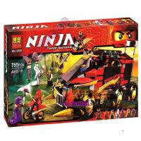 欢乐童年-兼容乐高式幻影忍者玩具 忍者移动指挥所Ninjago拼装积木玩具10325