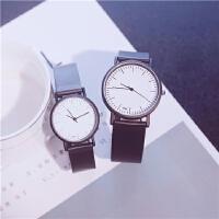 复古风中国风情侣手表一对男女学生韩版简约黑白潮流休闲
