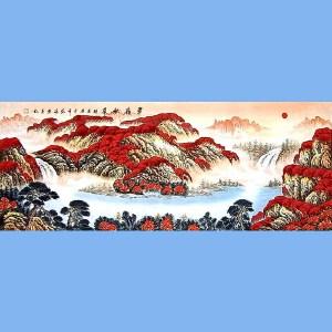 国家一级美术师,中国书画家协会会员,中国山水画研究院研究员范海(翠岭秋华)