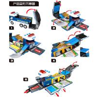 小汽车模型玩具车儿童大号变形警车玩具男孩仿真合金警察车救护车
