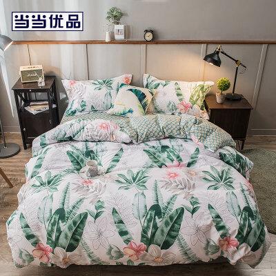 当当优品四件套 纯棉床单款双人床品件套 奇彩绽放(米) 纯棉床单款双人 四件套
