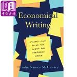 【中商原版】经济写作(第三版)英文原版 Economical Writing:Thirty-Five Rules fo