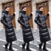 特卖2019羽绒服女中长款韩版修身过膝加厚白鸭绒冬装外套 S (92-105)斤