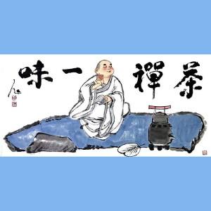 """国内""""文与画""""俱佳的艺术家,国家一级美术师刘子玉(禅茶一味)"""