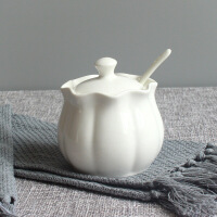 简约家居陶瓷调味罐调味瓶厨房用具北欧大理石纹盐罐白糖罐套装