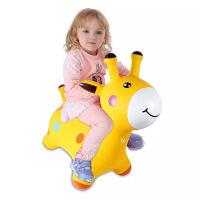 叮当鹿儿童环保跳跳马带音乐加大加厚宝宝充气玩具幼儿坐骑抖音