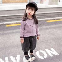 女宝宝加绒加厚打底衫女童小童洋气婴幼儿童保暖上衣外穿冬季婴儿