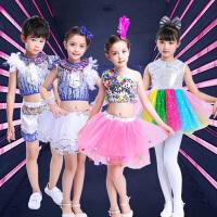 儿童爵士演出服装舞蹈练功服六一节幼儿园白雪公主蓬蓬裙