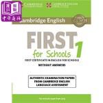 【中商原版】剑桥FCE考试校园版1 真题集:学生书(无答案) 英文原版 Cambridge English First