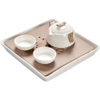 陶瓷旅行功夫茶具小号茶盘套装家用简约日式茶快客杯手抓壶