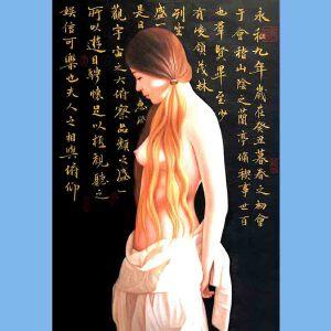知名油画艺术家,福建省油画协会常务理事曾新伟(江山美人)7