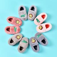 可爱宝宝棉拖鞋包儿童室内毛毛保暖家居棉鞋冬季1-3岁