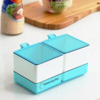 创意厨房塑料带盖调味盒家用套装组合调味料瓶盒子味精盐罐调料罐