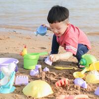 儿童沙滩玩具车套装软胶挖沙工具组合大号沙漏铲子宝宝