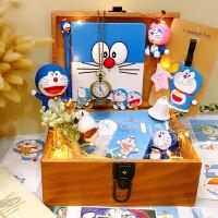 女朋友过生日送什么叮当猫蓝胖子机器猫创意diy生日礼物18岁礼送男朋友女生儿童 BX 蓝胖子大号礼盒 / 伴你同行