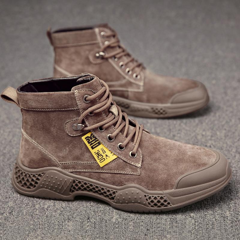 承发 马丁靴子男士沙漠雪地靴子潮流学生耐磨高帮鞋子男 73526 过年大放价,来宜驰,就够了!