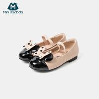 迷你巴拉巴拉女童公主鞋2020新款时尚皮鞋
